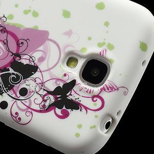 Gélové puzdro pro Samsung Galaxy S4 i9500- vlající motýl - 3