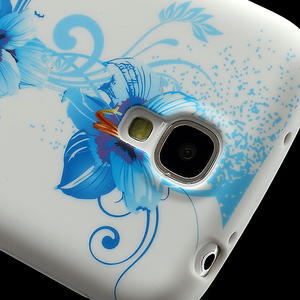 Gelové pouzdro pro Samsung Galaxy S4 i9500- modrá Lilie - 3
