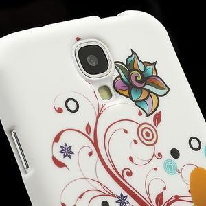 Gélové puzdro pro Samsung Galaxy S4 i9500- farebná kvetina - 3