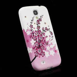 Gelové pouzdro pro Samsung Galaxy S4 i9500- kvetoucí švestka - 3