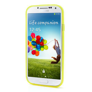 Gélové slim puzdro na Samsung Galaxy S4 i9500- žlté - 3