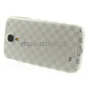 Gélové kosočvercové puzdro na Samsung Galaxy S4 i9500- Transparentní - 3
