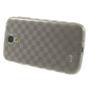 Gélové kosočvercové puzdro na Samsung Galaxy S4 i9500- šedé - 3