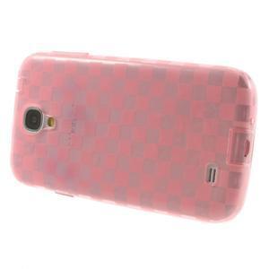 Gelpvé kosočvercové puzdro pre Samsung Galaxy S4 i9500- ružové - 3