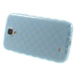 Gélové kosočvercové puzdro na Samsung Galaxy S4 i9500- modré - 3
