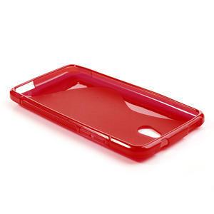 Gélové S-line puzdro pre HTC one Mini M4- červené - 3