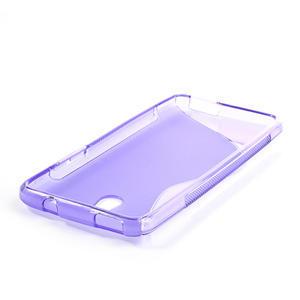 Gélové S-line puzdro pre HTC one Mini M4-fialové - 3