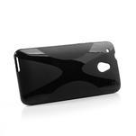 Gélové X-line puzdro pre HTC one Mini M4- čierné - 3/5