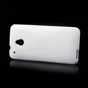Gélové X-line puzdro pre HTC one Mini M4- biele - 3