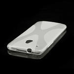 Gélové X-line puzdro pre HTC one Mini M4- transparentný - 3/4