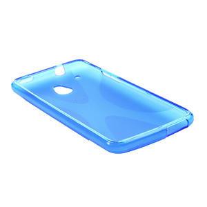 Gélové X-line puzdro pre HTC one Mini M4- modré - 3