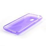 Gélové X-line puzdro pre HTC one Mini M4- fialové - 3/4