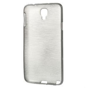 Gélové kartáčované puzdro pre Samsung Galaxy Note 3- čierné - 3