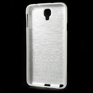 Gélové kartáčované puzdro pre Samsung Galaxy Note 3 Neo- biele - 3