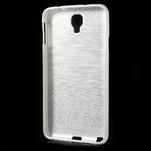 Gélové kartáčované puzdro pre Samsung Galaxy Note 3 Neo- biele - 3/3