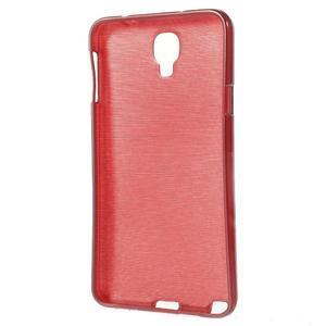 Gélové kartáčované puzdro pre Samsung Galaxy Note 3 Neo- červené - 3