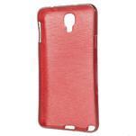 Gélové kartáčované puzdro pre Samsung Galaxy Note 3 Neo- červené - 3/3