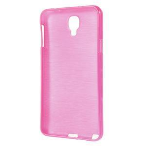 Gélové kartáčované puzdro pre Samsung Galaxy Note 3 Neo- ružové - 3