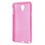 Gélové kartáčované puzdro na Samsung Galaxy Note 3 Neo- růžové - 3/5