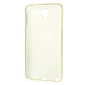 Gélové kartáčované puzdro na Samsung Galaxy Note 3- zlaté - 3