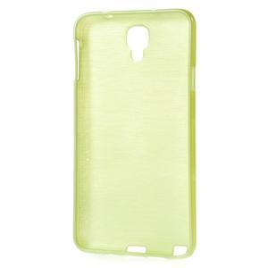 Gélové kartáčované puzdro na Samsung Galaxy Note 3- zelené - 3