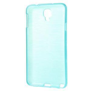 Gélové kartáčované puzdro pre Samsung Galaxy Note 3- modré - 3