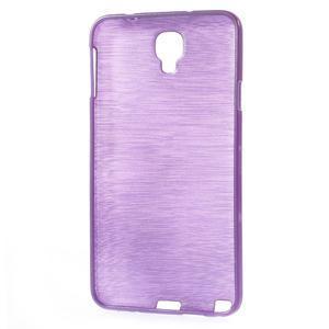 Gélové kartáčované puzdro pre Samsung Galaxy Note 3 Neo- fialové - 3