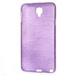 Gélové kartáčované puzdro na Samsung Galaxy Note 3- fialové - 3/5
