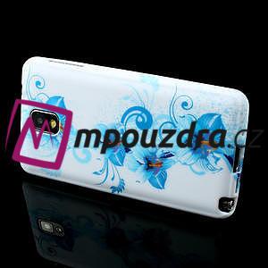 Gélové puzdro na Samsung Galaxy Note 3- modrá lilie - 3
