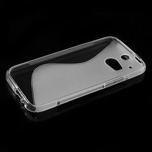 Gélové S-line puzdro pre HTC one M8- transparentný - 3