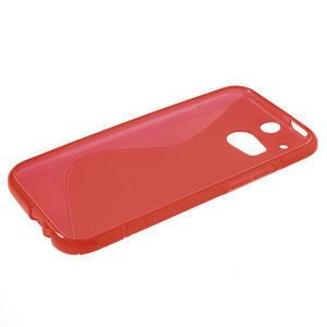 Gélové S-line puzdro pre HTC one M8- červené - 3