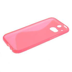 Gélové S-line puzdro pre HTC one M8- ružové - 3