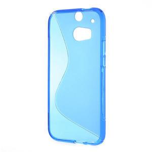Gélové S-line puzdro pre HTC one M8- modré - 3