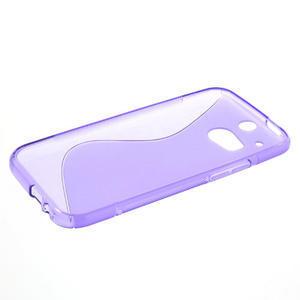 Gélové S-line puzdro pre HTC one M8- fialové - 3