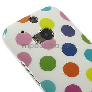 Gélové-PUNTÍKY puzdro pre HTC one M8- bílofarebné - 3