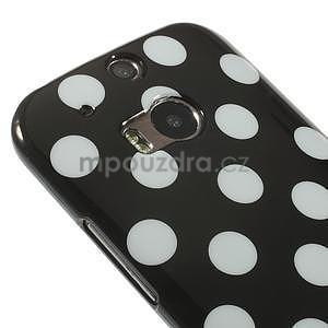 Gélové-PUNTÍKY puzdro pre HTC one M8- biele - 3