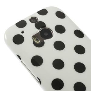 Gélové-PUNTÍKY puzdro pre HTC one M8- čierné - 3