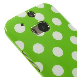 Gélové-PUNTÍKY puzdro pre HTC one M8- zelené - 3