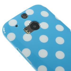 Gélové-PUNTÍKY puzdro pre HTC one M8- modré - 3
