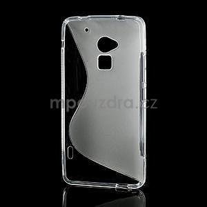 Gélové S-line puzdro pre HTC one Max-transparentný - 3