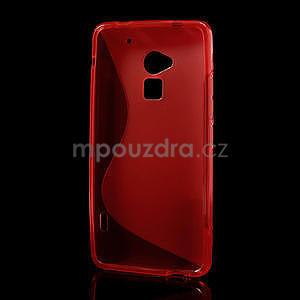 Gélové S-line puzdro pre HTC one Max-červené - 3