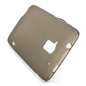 Gélové matné puzdro pre HTC one Max- šedá - 3