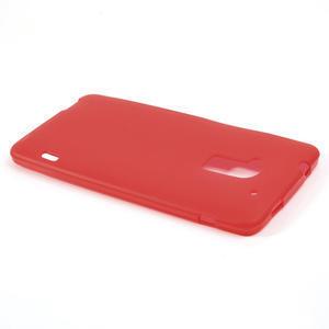 Gélové matné puzdro pre HTC one Max- červená - 3