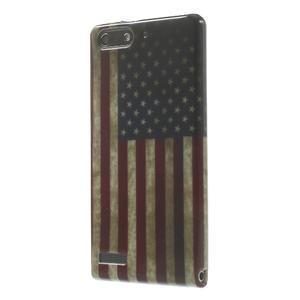 Gélové puzdro na Huawei Ascend G6 - USA vlajka - 3
