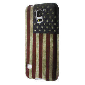 Gélové puzdro pre Samsung Galaxy S5- USA vlajka - 3
