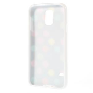 Gélové puntíkaté puzdro pre Samsung Galaxy S5- černofarebné - 3