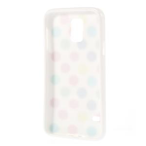 Gélové puntíkaté puzdro pre Samsung Galaxy S5- bílofarebné - 3
