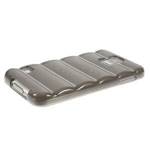 Gélové vesta puzdro pre Samsung Galaxy S5- šedé - 3