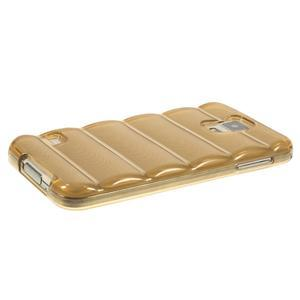 Gélové vesta puzdro pre Samsung Galaxy S5- zlaté - 3