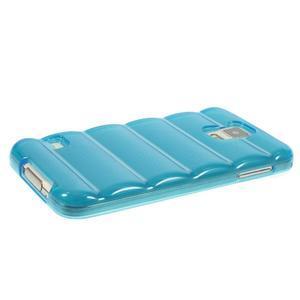 Gélové vesta puzdro pre Samsung Galaxy S5- modré - 3